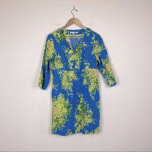 Boden Linen Floral Tunic Sheath Summer Dress